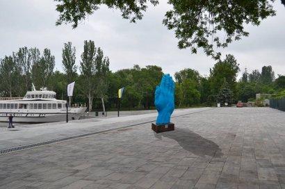Синюю ладонь из Киева установят в Николаеве в присутствии консула Румынии в Одессе