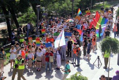 Марш равенства в Одессе прошел спокойно.