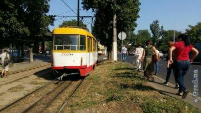 В Одессе остановлено движение трамваев четырех маршрутов