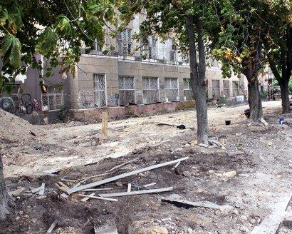 Реконструкция бульвара Жванецкого идет по графику.