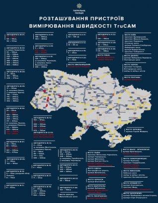 На украинских дорогах увеличится количество радаров TruCAM