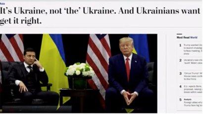 The Washington Post опубликовала новость об Украине в рубрике про азиатские страны