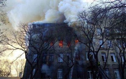 Из-за пожара в Одессе объявлен двухдневный траур