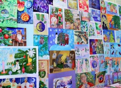 В Одессе прошел конкурс детского рисунка «Новогодняя игрушка»