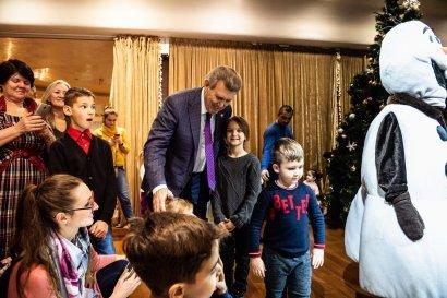 Украинская морская партия Сергея Кивалова поздравила маленьких одесситов с новогодними праздниками