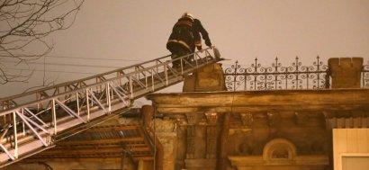 На Нежинской горел жилой дом