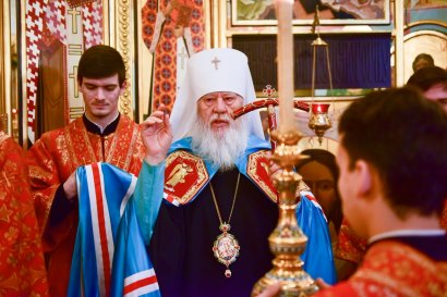 Сергей Кивалов поздравил митрополита Одесского и Измаильского Агафангела с Днем тезоименитства