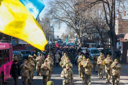 По случаю 31-й годовщины вывода войск из Афганистана в Одессе торжественно прошла колонна воинов-интернационалистов