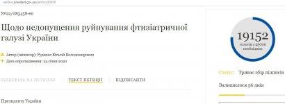 За антитуберкулезную петицию к Зеленскому нужны еще 6 тысяч голосов